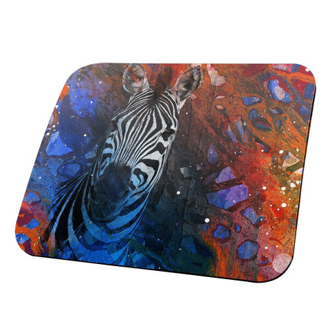 Abstract Art Zebra All Over Mouse Pad