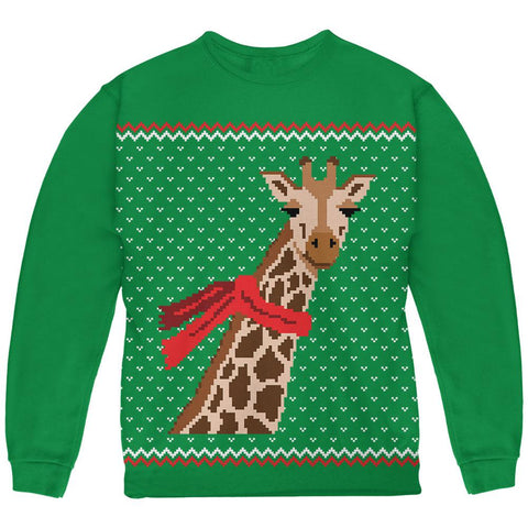 Big Giraffe Scarf Ugly Christmas Sweater Youth Sweatshirt