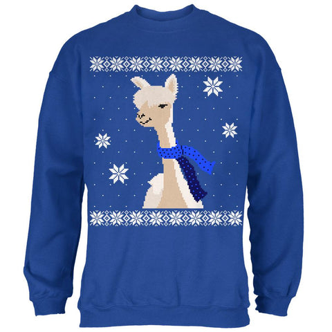 Big Alpaca Scarf Ugly Christmas Sweater Mens Sweatshirt