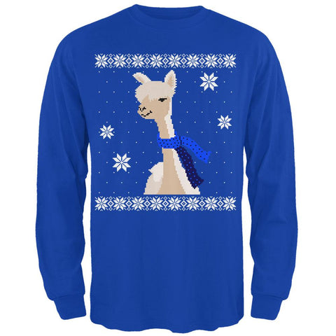 Big Alpaca Scarf Ugly Christmas Sweater Mens Long Sleeve T Shirt