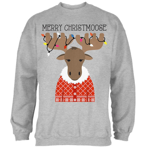 Christmas Merry ChristMoose Moose Mens Sweatshirt