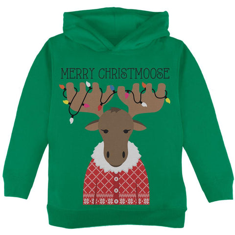Christmas Merry ChristMoose Moose Toddler Hoodie