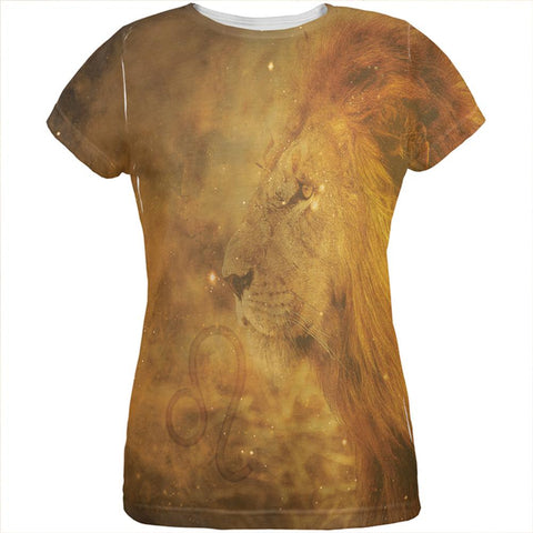 Leo King Of The Pride All Over Womens T Shirt