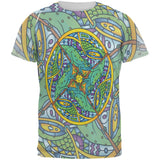 Mandala Trippy Stained Glass Chameleon All Over Mens T Shirt