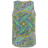 Mandala Trippy Stained Glass Chameleon All Over Mens Tank Top
