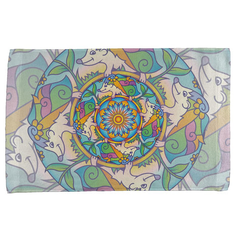 Mandala Trippy Stained Glass Hedgehog All Over Hand Towel