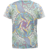 Mandala Trippy Stained Glass Spring Birds Mens T Shirt