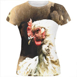 Queen Of The Barnyard Chicken All Over Juniors T Shirt