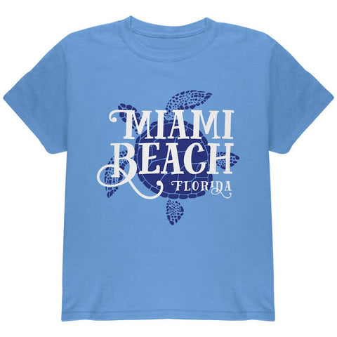 Summer Sun Sea Turtle Miami Beach Youth T Shirt