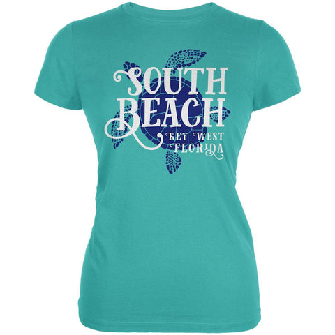 Summer Sun Sea Turtle South Beach Key West Juniors Soft T Shirt