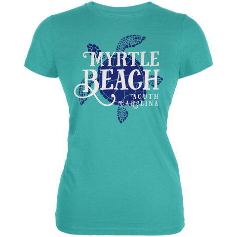 Summer Sun Sea Turtle Myrtle Beach Juniors Soft T Shirt