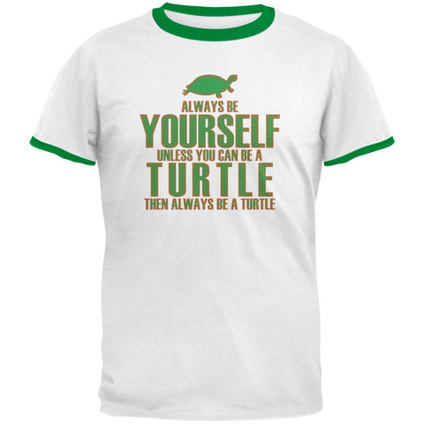 Always Be Yourself Turtle Mens Ringer T Shirt