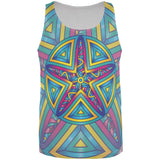 Mandala Trippy Stained Glass Starfish All Over Mens Tank Top
