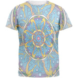 Mandala Trippy Stained Glass Seahorse Mens T Shirt