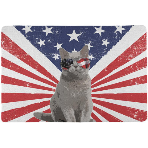 4th Of July Meowica America Patriot Cat All Over Placemat