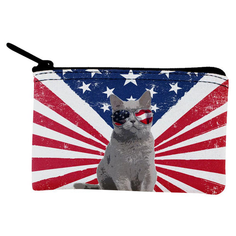 4th Of July Meowica America Patriot Cat Coin Purse