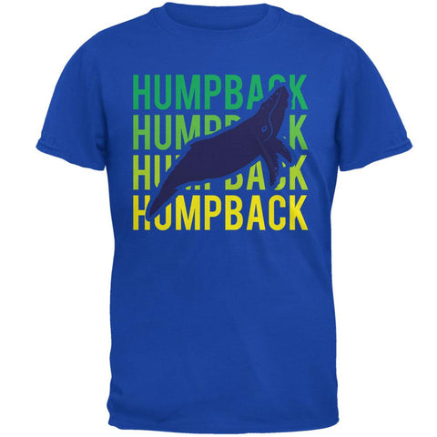 Humpback Whale Stacked Repeat Mens T Shirt
