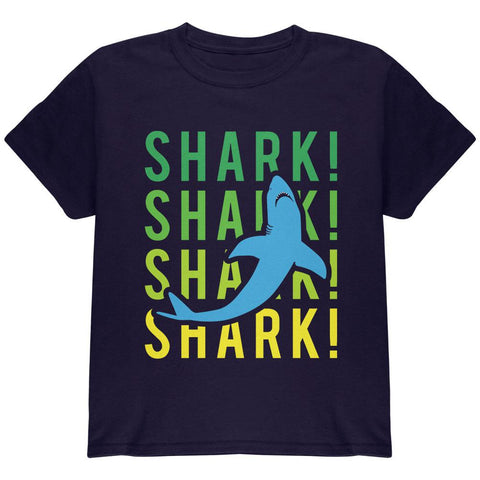 Shark Stacked Repeat Youth T Shirt