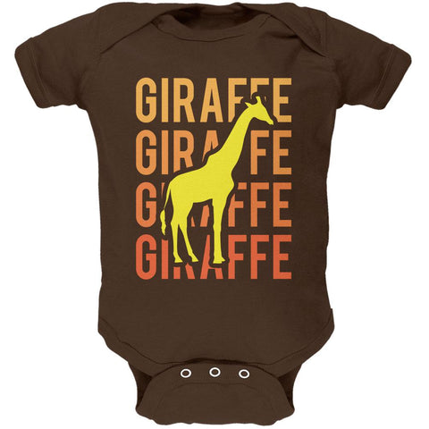 Giraffe Stacked Repeat Soft Baby One Piece