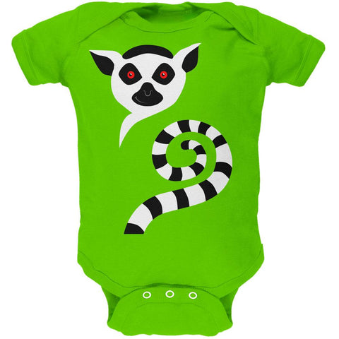 d37cc8d2bc Ring-Tailed Lemur Monkey of Madagascar Soft Baby One Piece