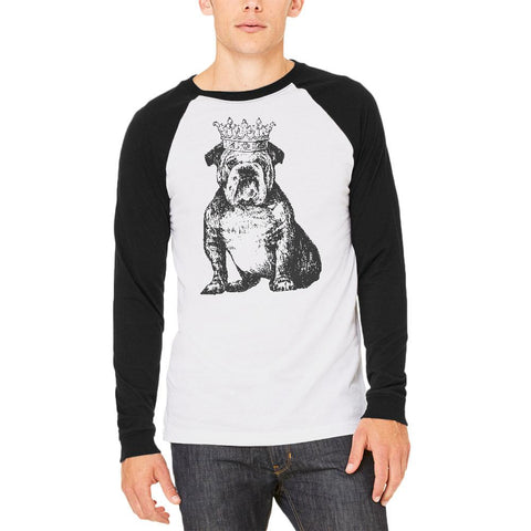 Bulldog Crown Mens Long Sleeve Raglan T Shirt