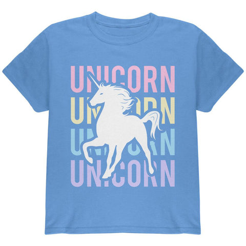 Unicorn Stacked Repeat Youth T Shirt