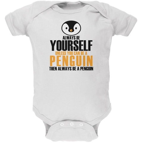 Always Be Yourself Penguin Soft Baby One Piece