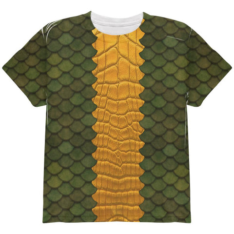 Halloween Green Dragon Costume All Over Youth T Shirt
