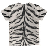 Halloween White Siberian Tiger Costume All Over Youth T Shirt