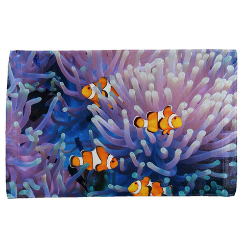 Clownfish Sea Anemone All Over Hand Towel