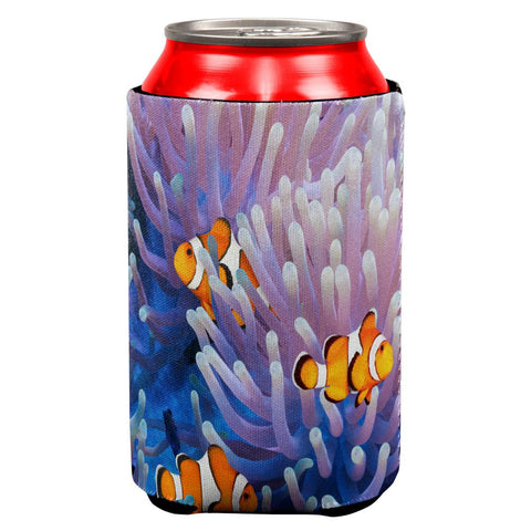 Clownfish Sea Anemone All Over Can Cooler