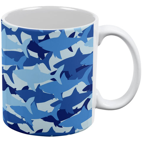 Great White Shark Camo All Over Coffee Mug