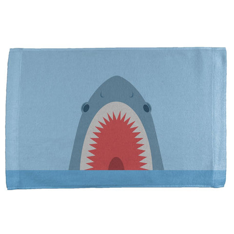Cute Fun Shark Attack All Over Hand Towel