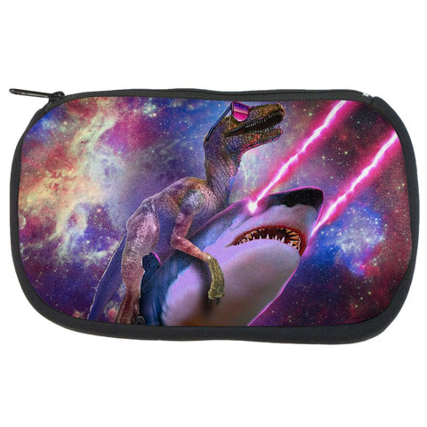 Velociraptor Laser Shark Galaxy Funny Makeup Bag