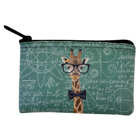 Giraffe Geek Math Formulas Coin Purse