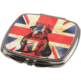 English British Bulldog Crown Grunge Flag Compact