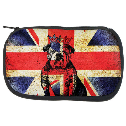 English British Bulldog Crown Grunge Flag Makeup Bag