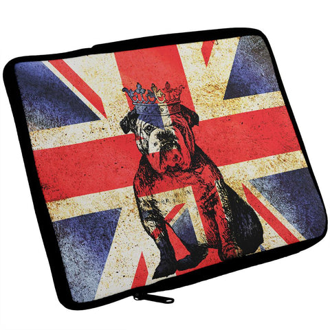 English British Bulldog Crown Grunge Flag iPad Tablet Sleeve