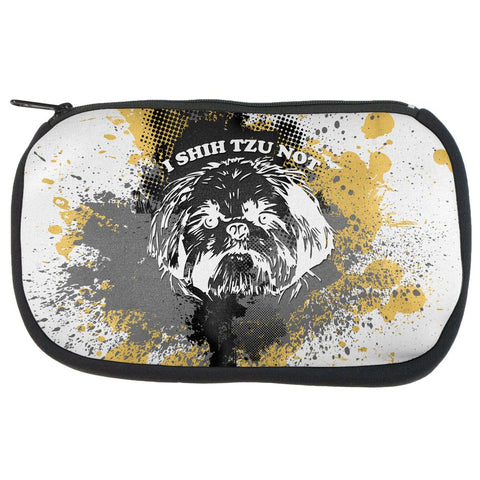 I Shih Tzu Not Funny Splatter Grunge Makeup Bag