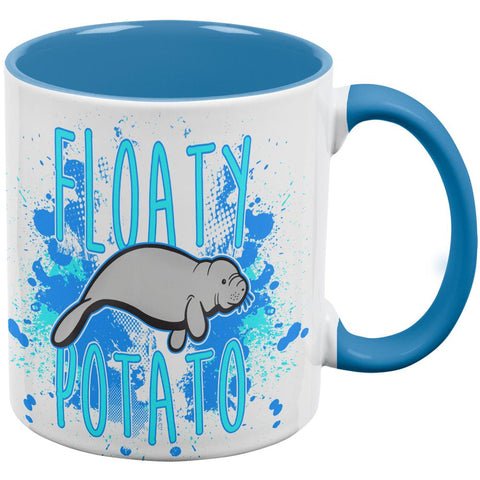 Floaty Potato Manatee Funny Grunge Splatter Coffee Mug
