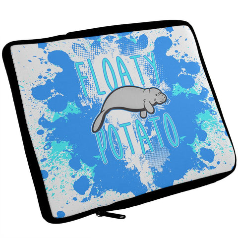 Floaty Potato Manatee Funny Grunge Splatter iPad Tablet Sleeve