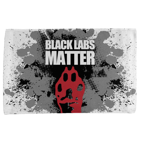 Black Labs Matter Funny Splatter All Over Hand Towel