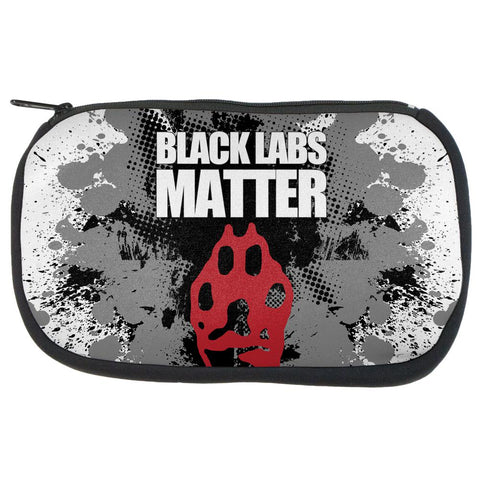 Black Labs Matter Funny Splatter Makeup Bag