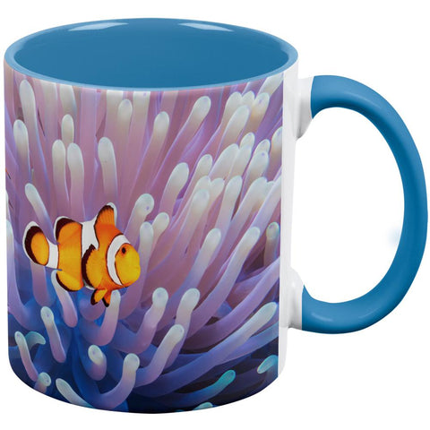 Clownfish Sea Anemone Aqua Handle Coffee Mug