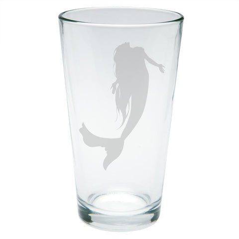 Mermaid Etched Pint Glass