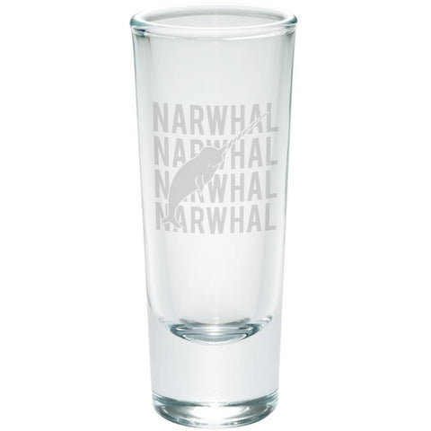 Narwhal Stack Repeat Etched Shot Glass Shooter