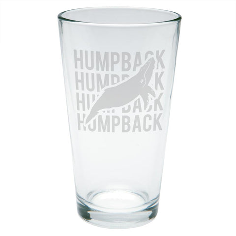 Humpback Stack Repeat Etched Pint Glass