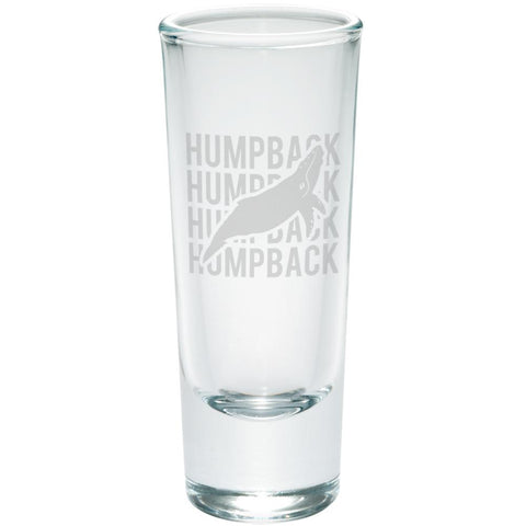 Humpback Stack Repeat Etched Shot Glass Shooter