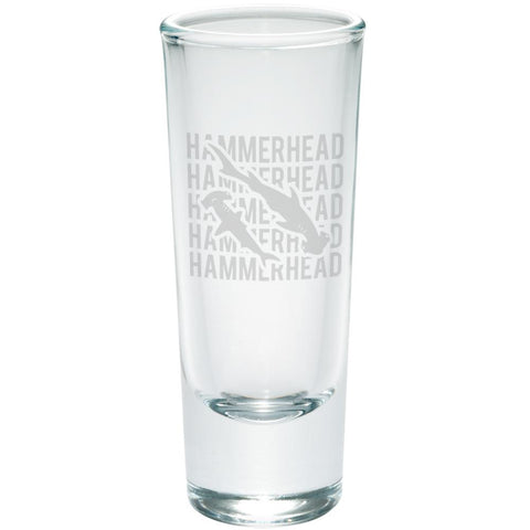 Hammerhead Shark Stack Repeat Etched Shot Glass Shooter