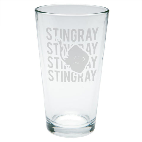 Stingray Stack Repeat Etched Pint Glass